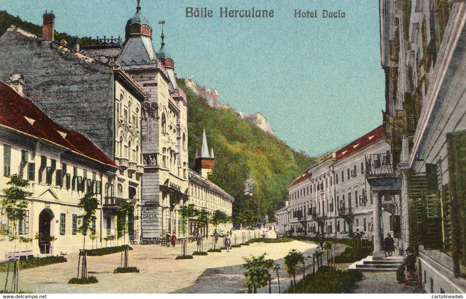 [DC7713] CPA - ROMANIA - BAILE HERCULANE - HOTEL DACIA - Non Viaggiata - Old Postcard - Romania