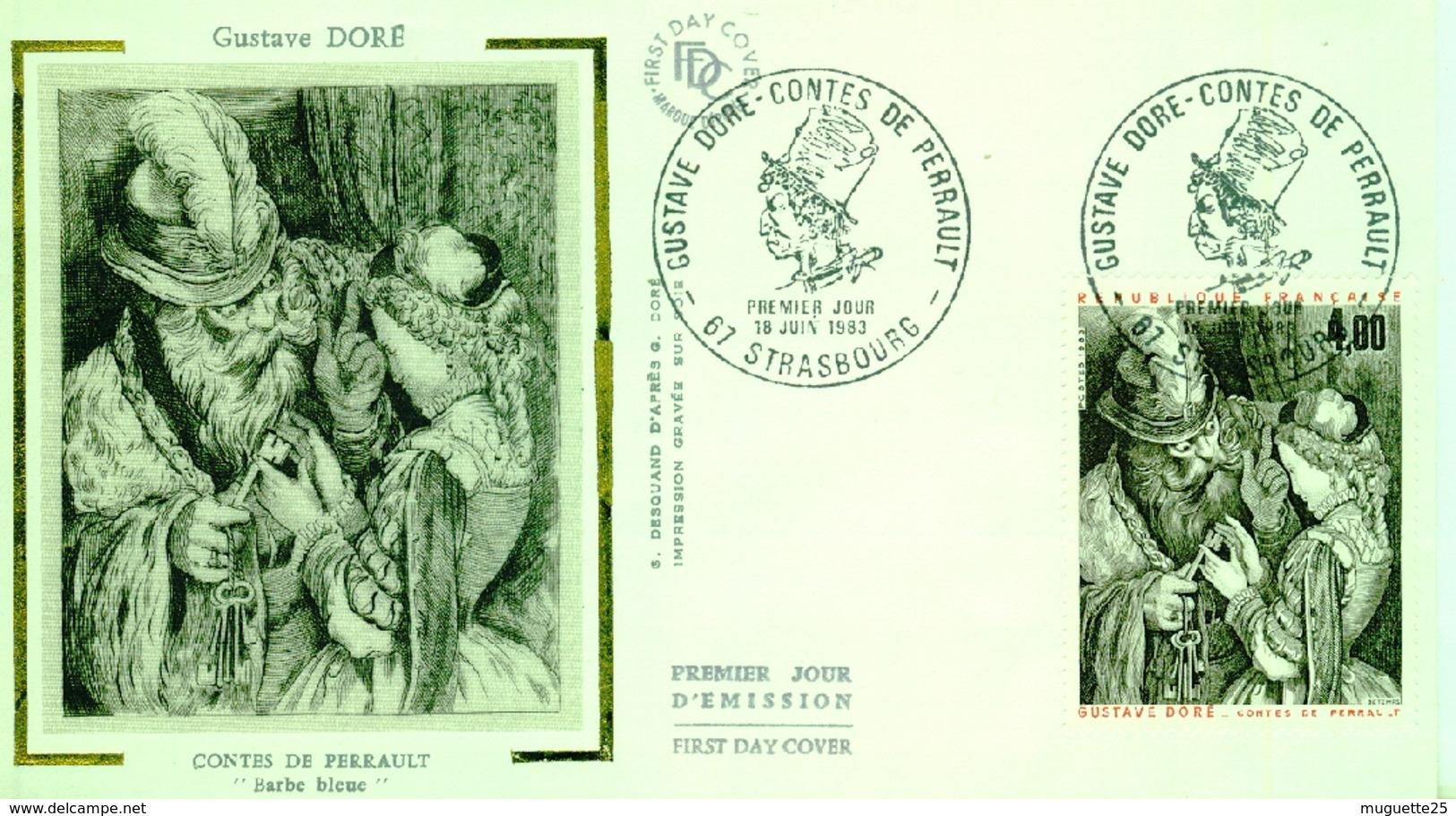 Gustave Doré – Contes De Perrault  Premier Jour  STRASBOURG -18 Juin 1983 - Europa-CEPT