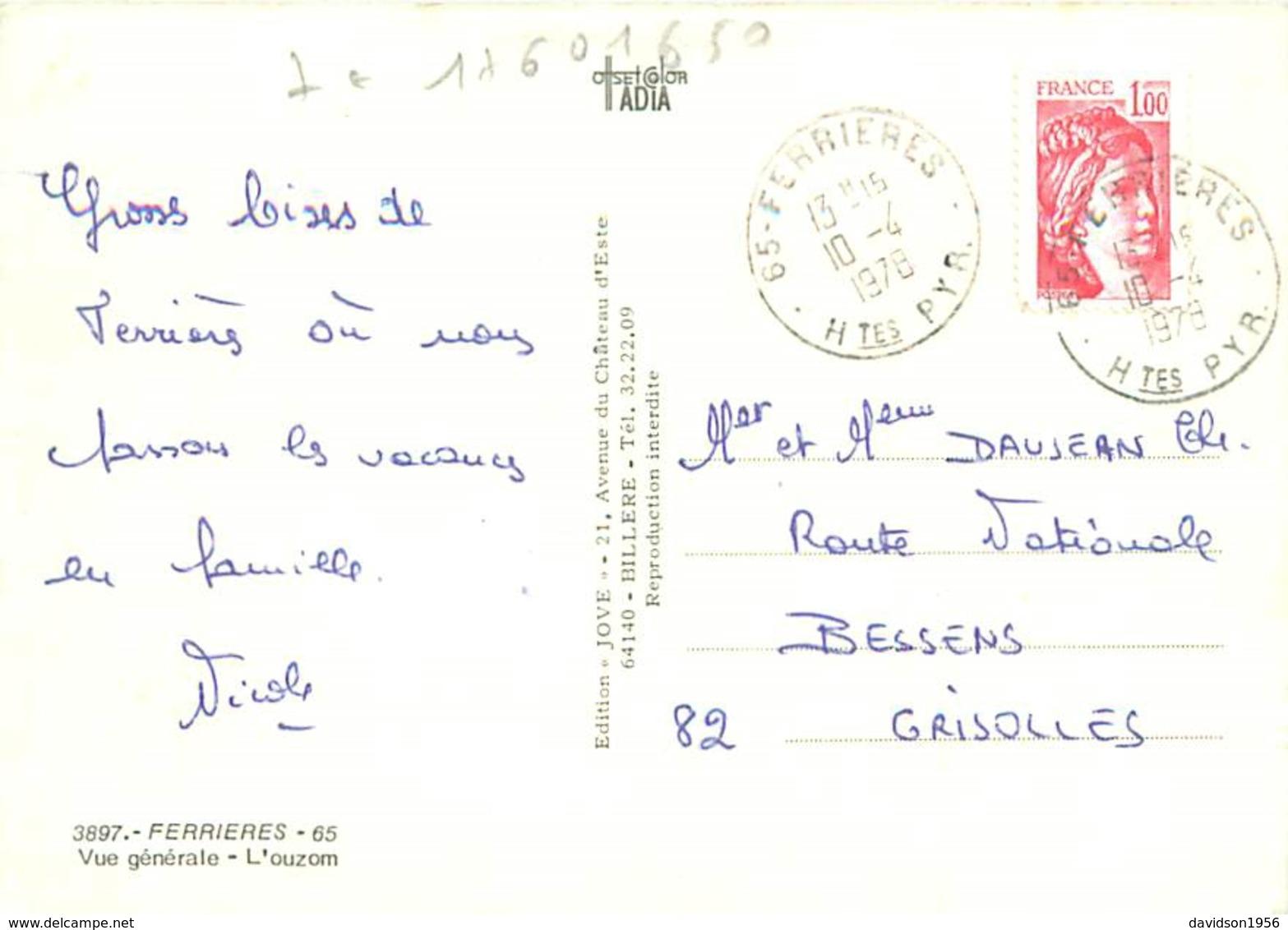 Cpsm  -    Ferrieres - Vue Générale ,L 'Ouzon     H1069 - Frankrijk