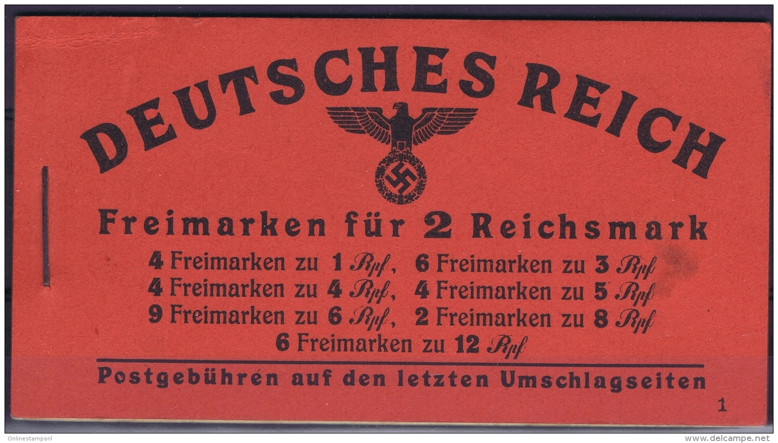 Germany Markenheft 48.3 Postfrisch/neuf Sans Charniere /MNH/**  Left Top Outside Small Fold - Markenheftchen
