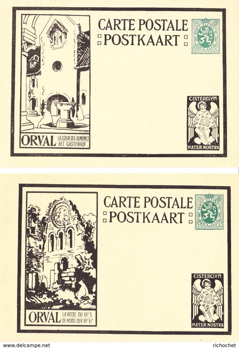 Belgique - Cartes Illustrées N° 5 Orval Avec Ange Dans Le Coin Inférieur Droit Série De 12 Cartes - Ganzsachen