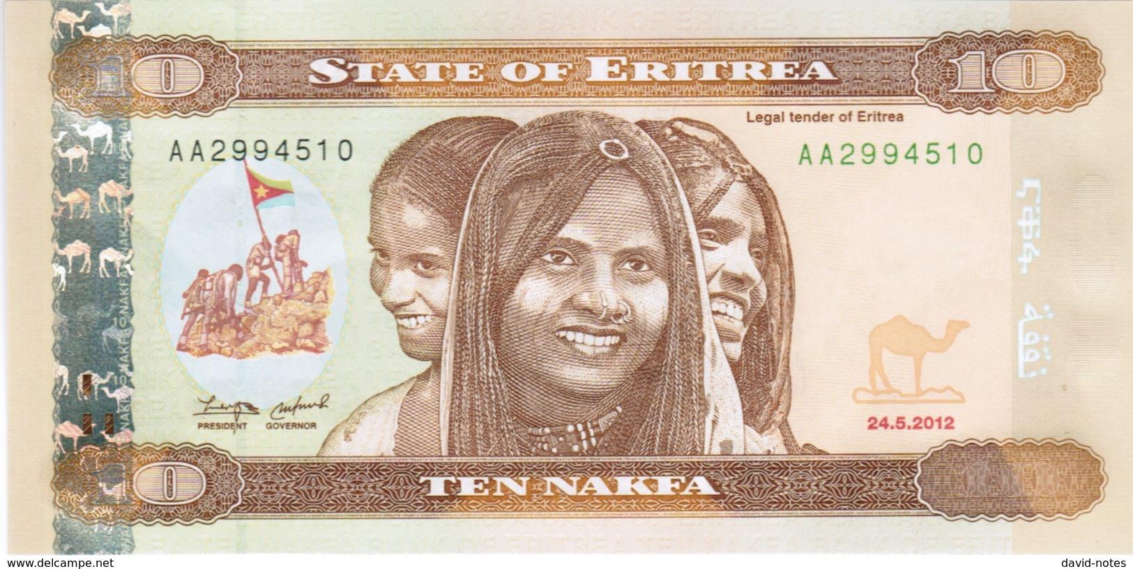 Eritrea - Pick 11 - 10 Nakfa 2012 - Unc - Erythrée