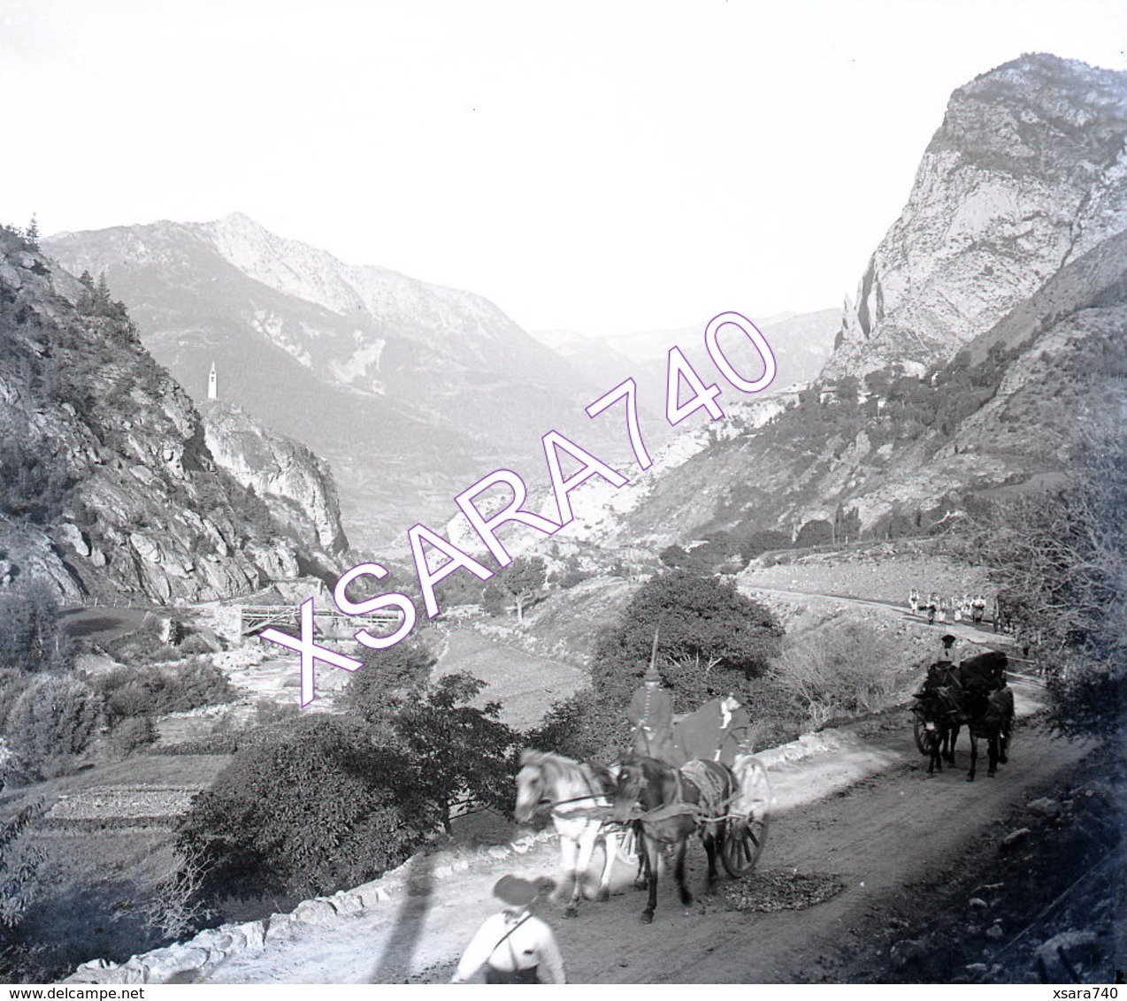Ubaye Queyras Meolans Chasseurs Alpins Vers 1895 Plaque De Verre 9 X 8 - Plaques De Verre