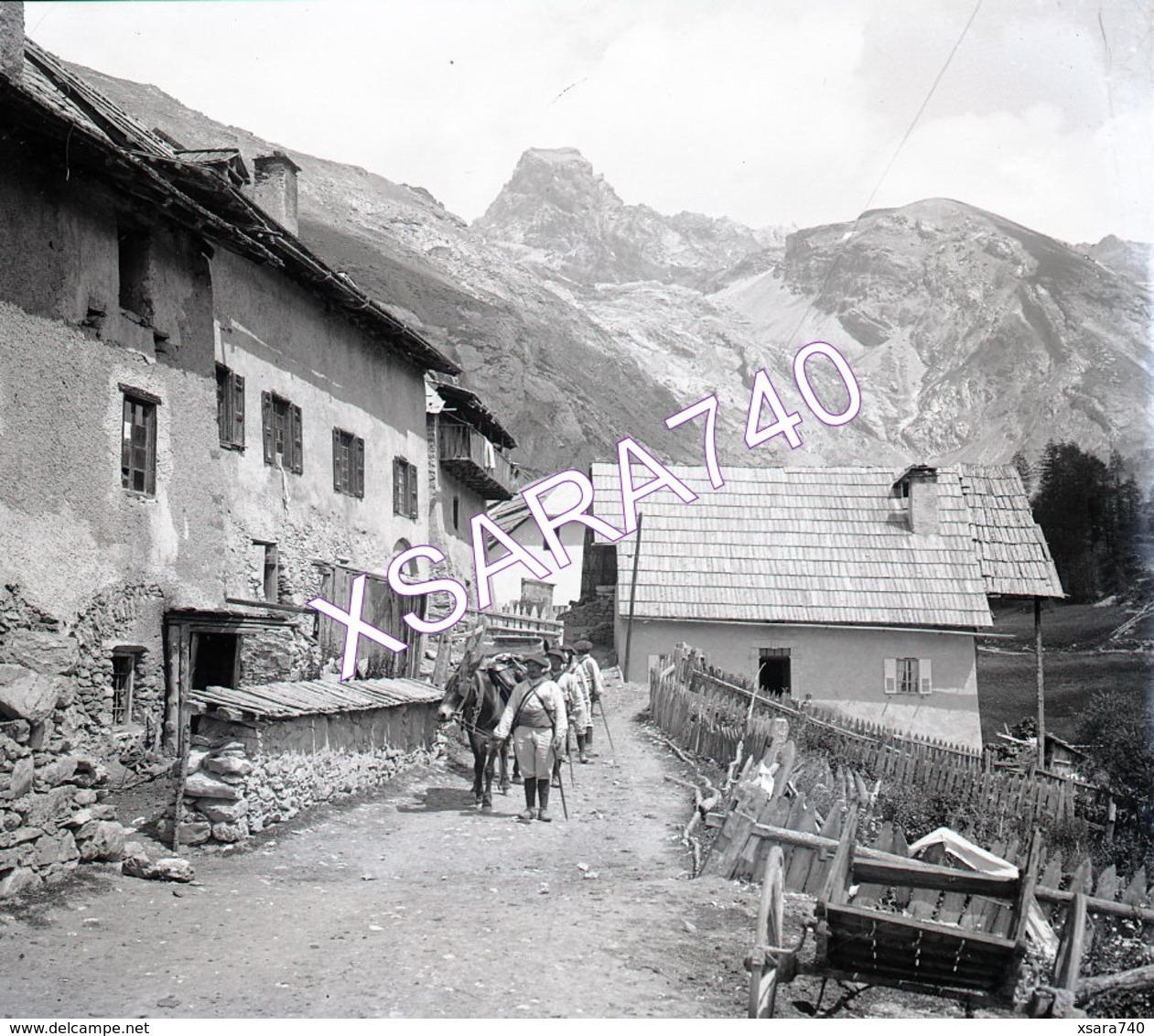 Ubaye Fouillouze Ou Fouillouse Chasseurs Alpins Vers 1895 Plaque De Verre 9 X 8 - Plaques De Verre