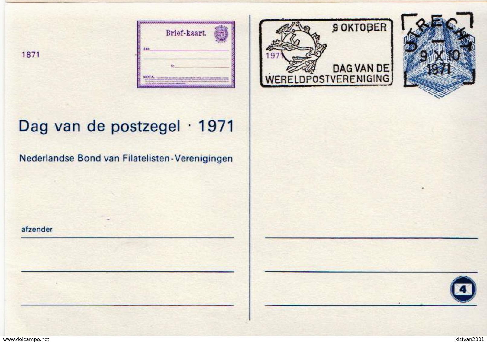 Netherlands Cancelled Postal Stationery Card - Postal Stationery