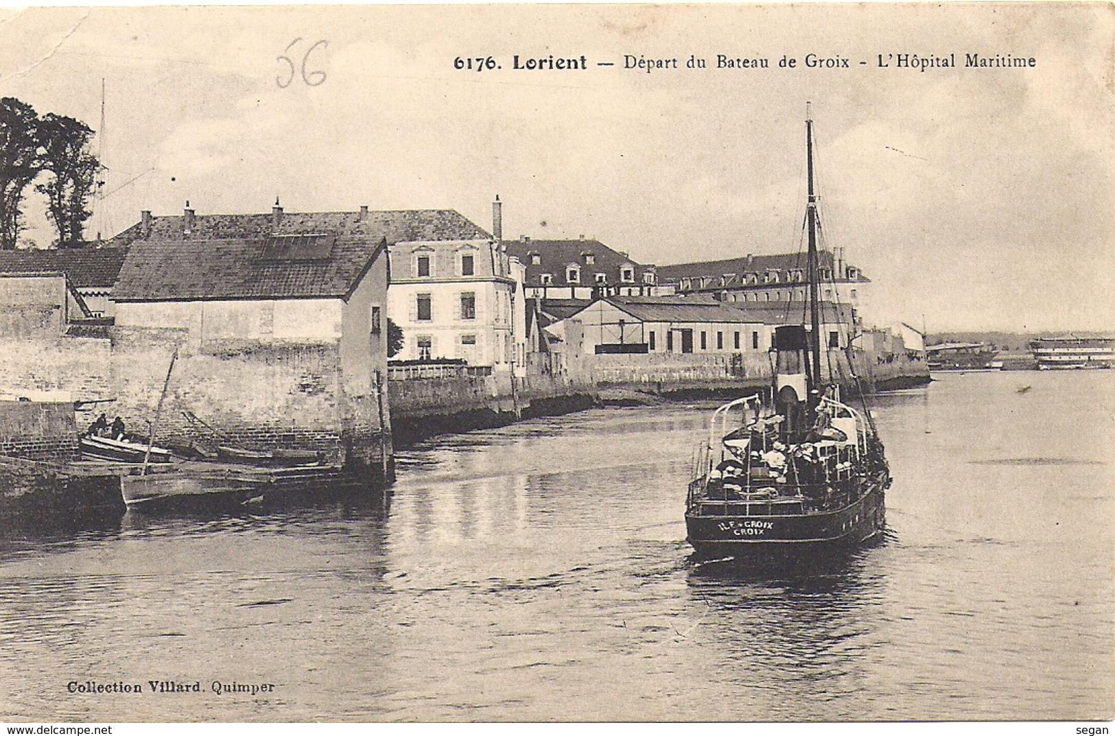 LORIENT   DEPART DU BATEAU  DE GROIX - Lorient