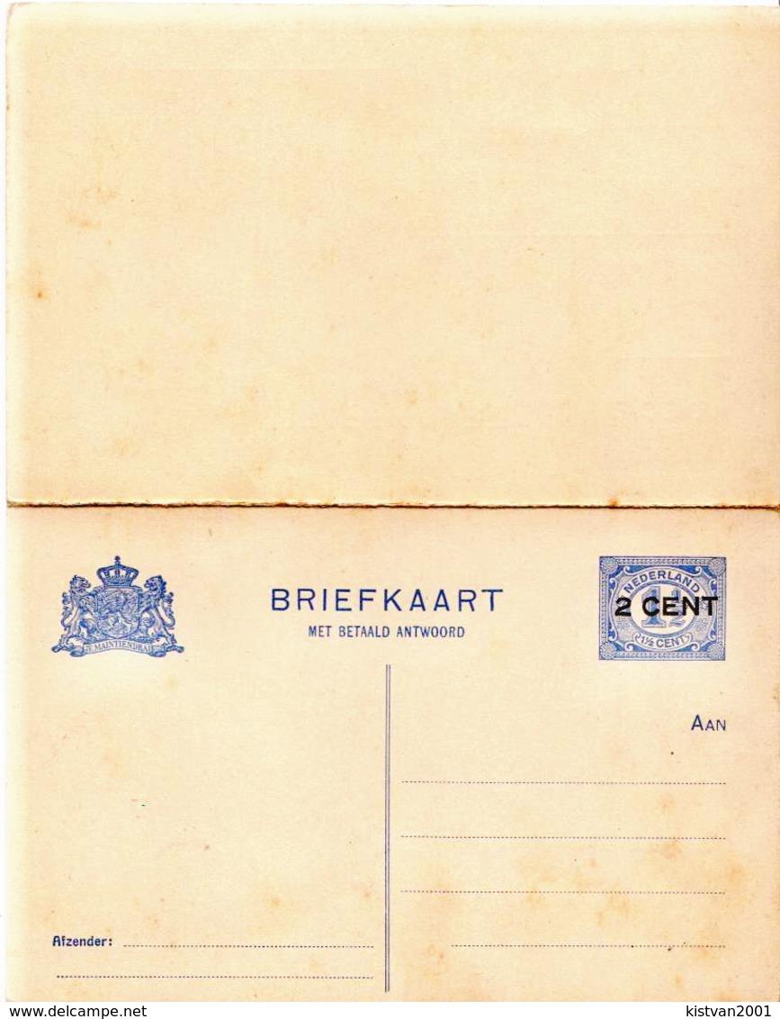 Netherlands 3 Mint Old Postal Stationery Cards - Postal Stationery