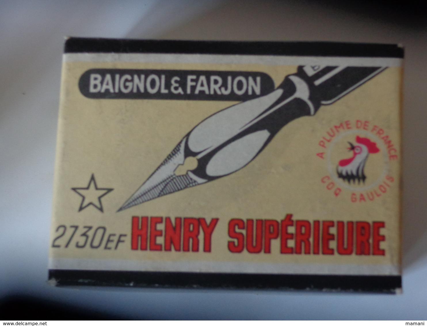 1 Boite De Plumes Qte 110 Ouverte Baignol Et Farjon Ref 2730 Ef  Henri Superieure Coq Gaulois A Plume De France - Plumes