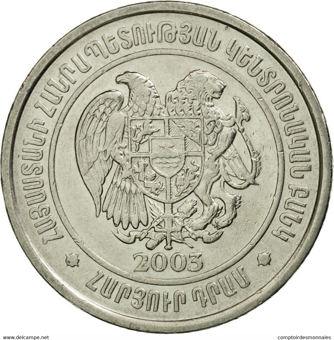 Monnaie, Armenia, 100 Dram, 2003, TTB+, Nickel Plated Steel, KM:95 - Arménie