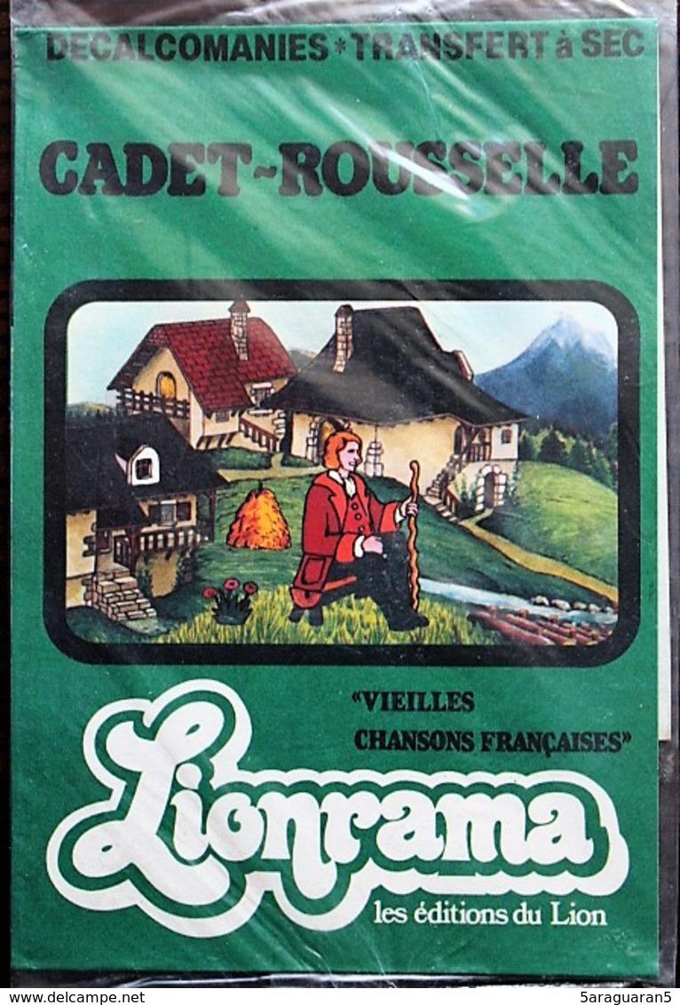 DECORAMA DECALCOMANIES TRANSFERT LIONRAMA - Vieilles Chansons Françaises - Cadet Rousselle - Old Paper