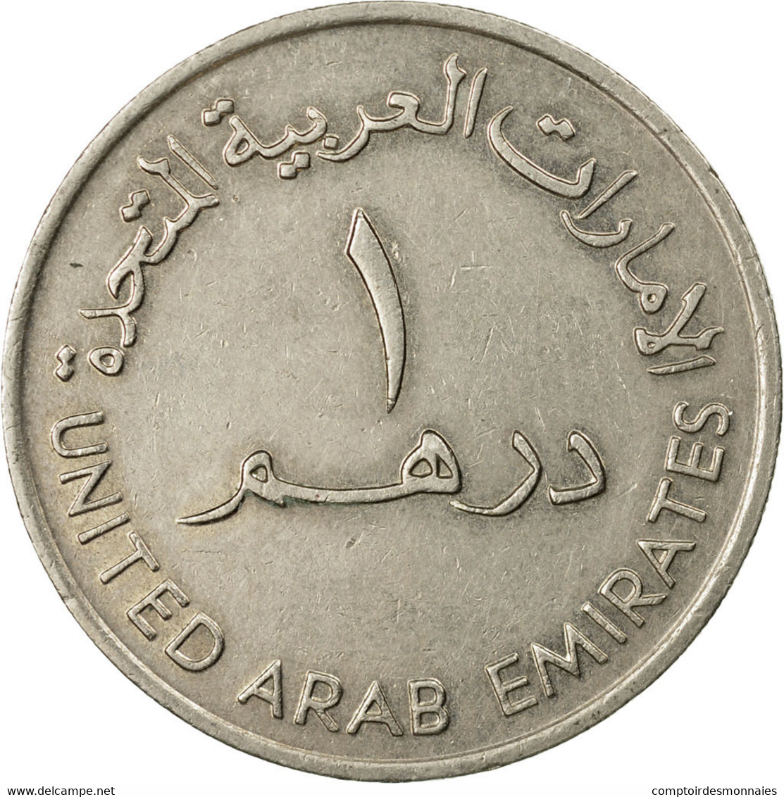 Monnaie, United Arab Emirates, Dirham, 1989/AH1409, British Royal Mint, TTB+ - Emirats Arabes Unis