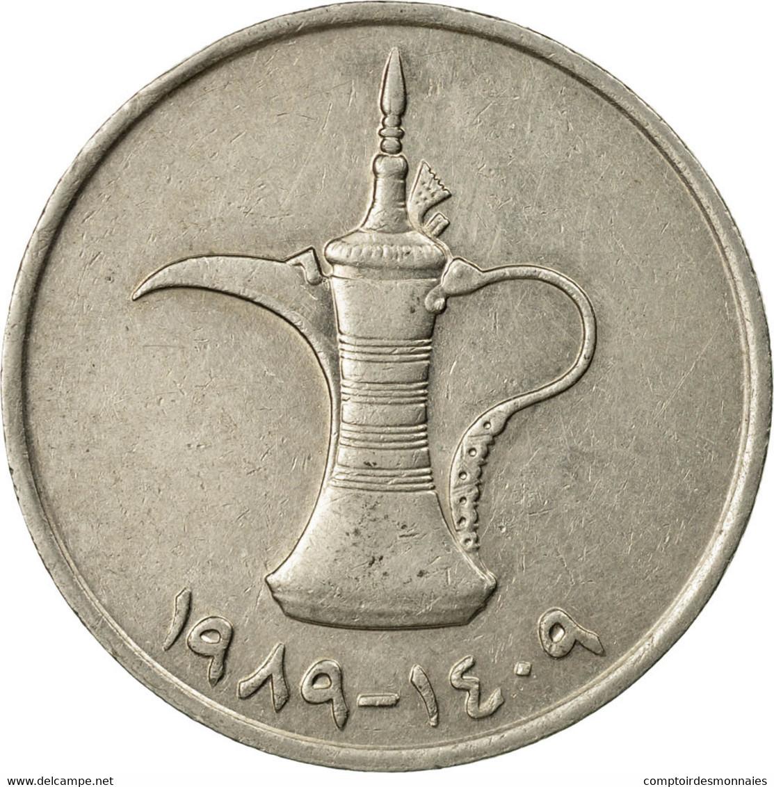 Monnaie, United Arab Emirates, Dirham, 1989/AH1409, British Royal Mint, TTB - Emirats Arabes Unis