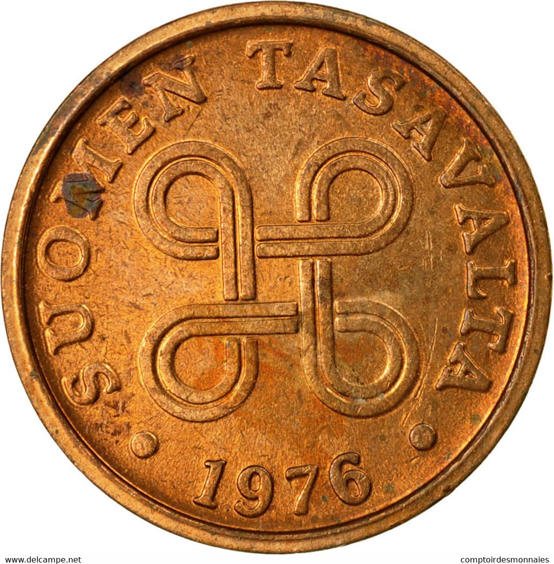 Monnaie, Finlande, 5 Pennia, 1976, TTB, Cuivre, KM:45 - Finlande