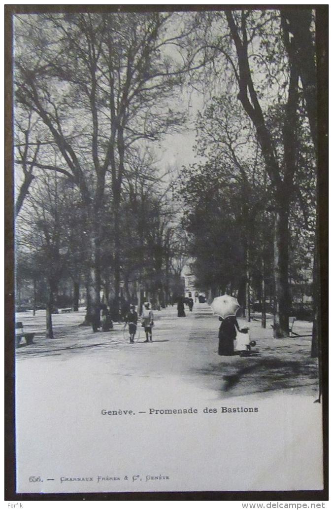 Suisse - Genève - Carte Postale Précurseur - Promenade Des Bastions - Animée - Non-circulée - GE Ginevra