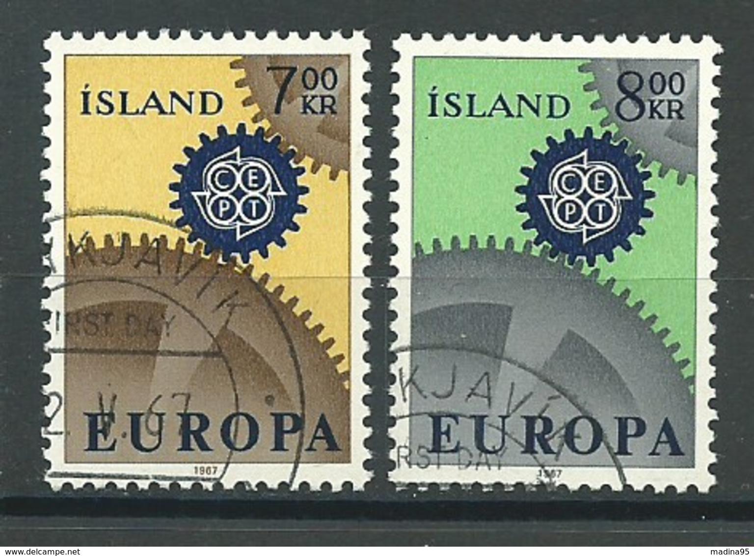 ISLANDE: Obl., N°YT 364 Et 365, Europa, TB - 1944-... Republik