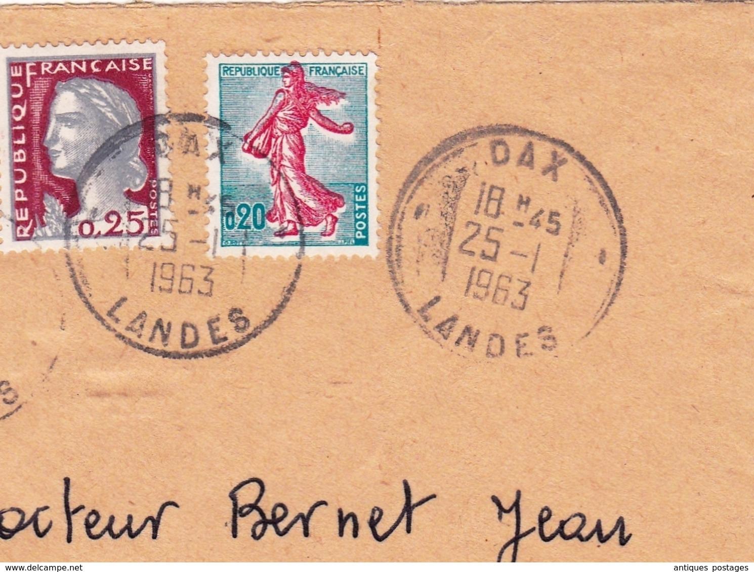 Lettre Recommandée 1963 Dax Landes - France