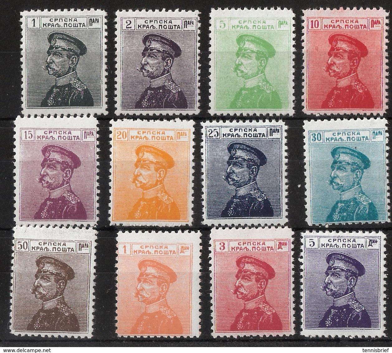1911, Nr. 95 - 106, Postfrisch! , #a1121 - Serbien