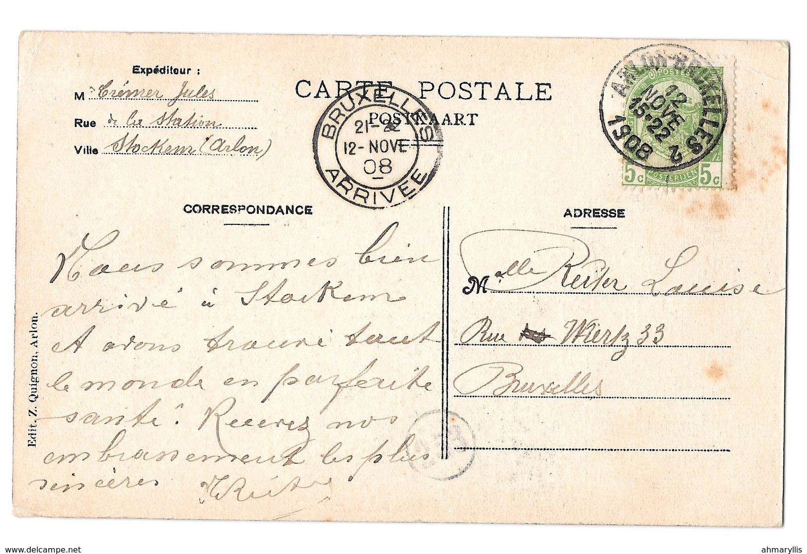 Environs D'arlon  Stockem Le Petit Lavoir  1908 - Arlon