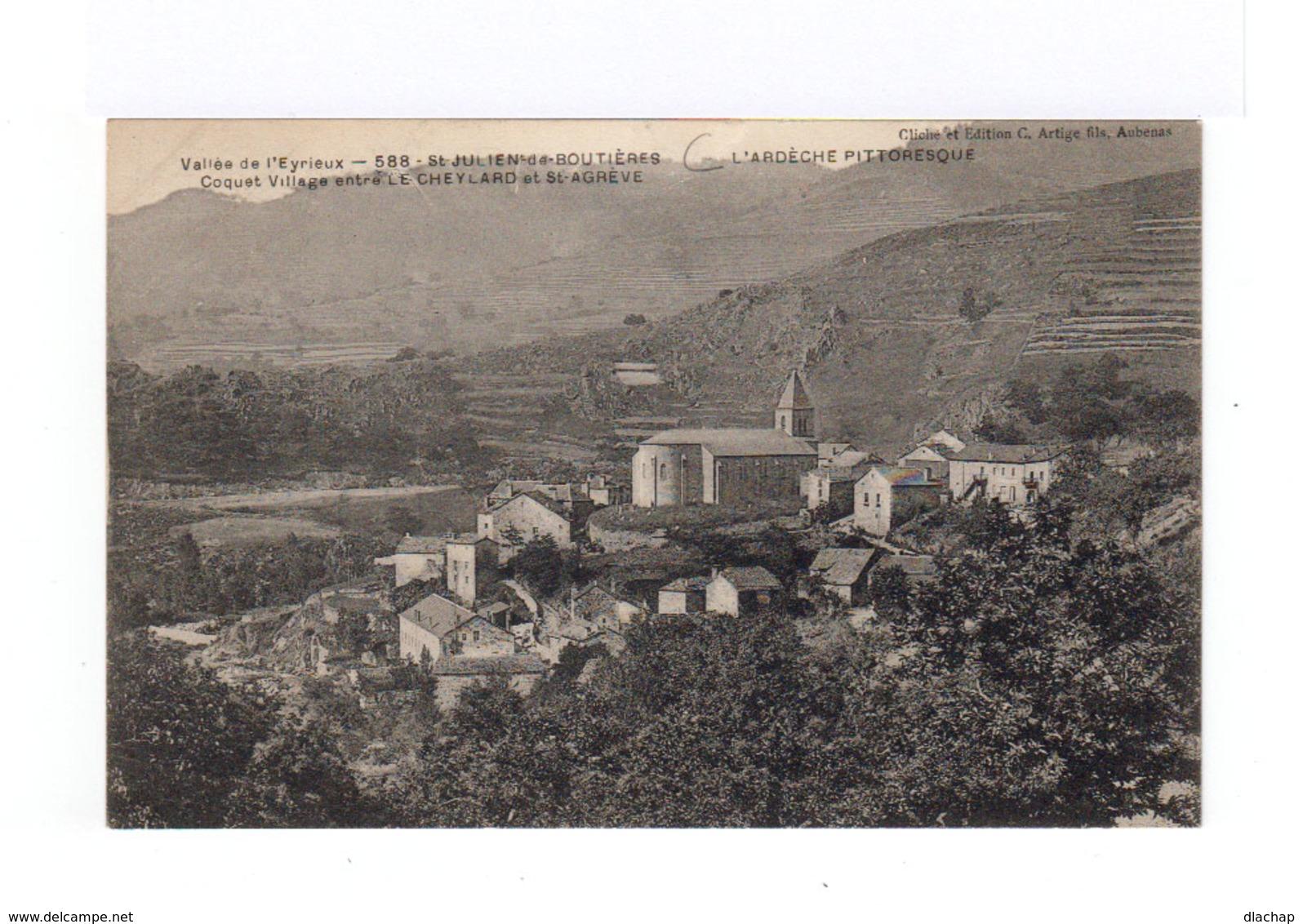 Vallée De L'Eyrieux. St Julien De Boutières. Village Entre Le Cheylard Et St Agrève. (3134) - France
