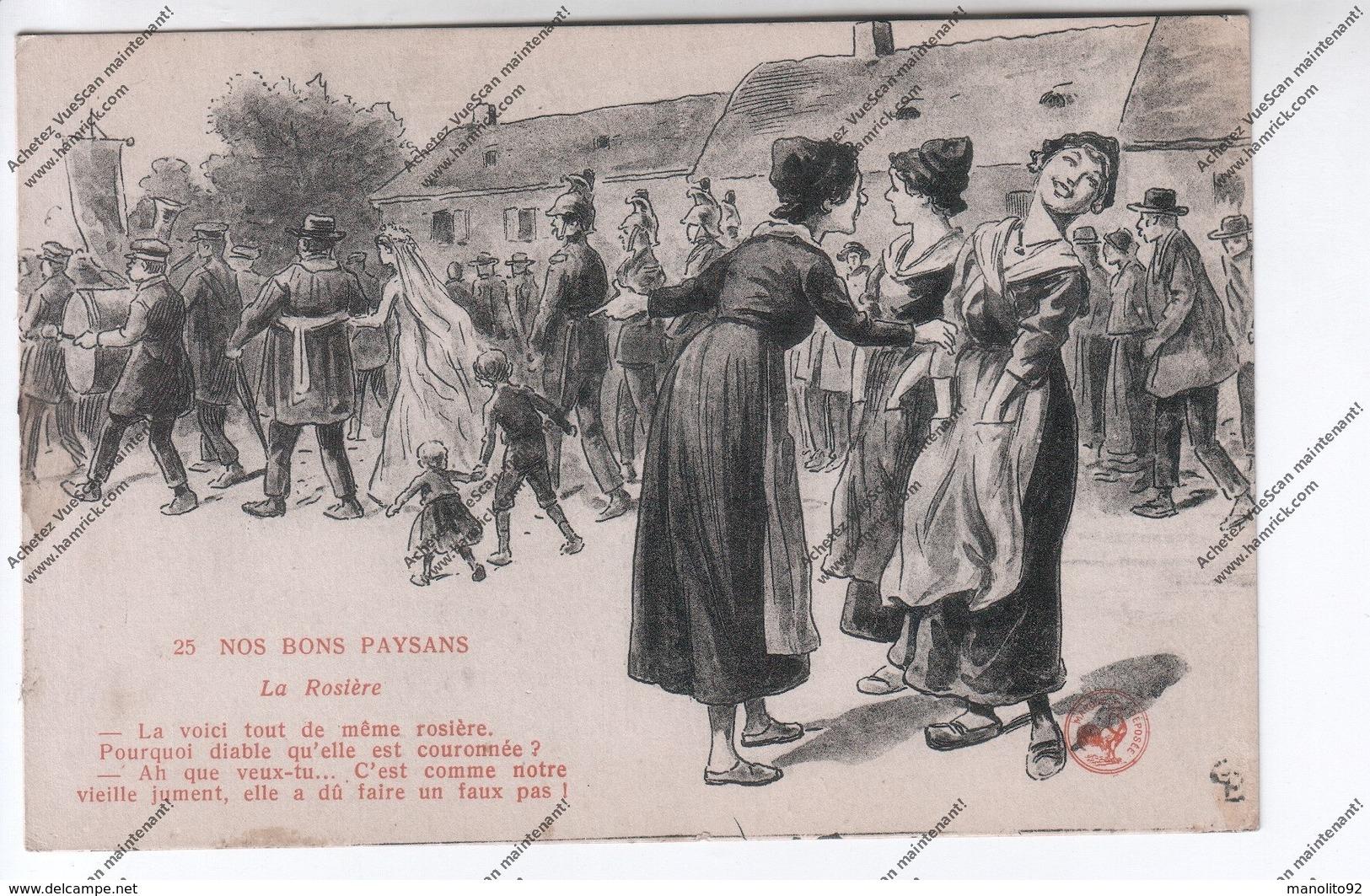 LOT 3 CPA Nos Bons Paysans -  La Rosière, Remède De Rebouteur, Chez L'Horloger - Campesinos