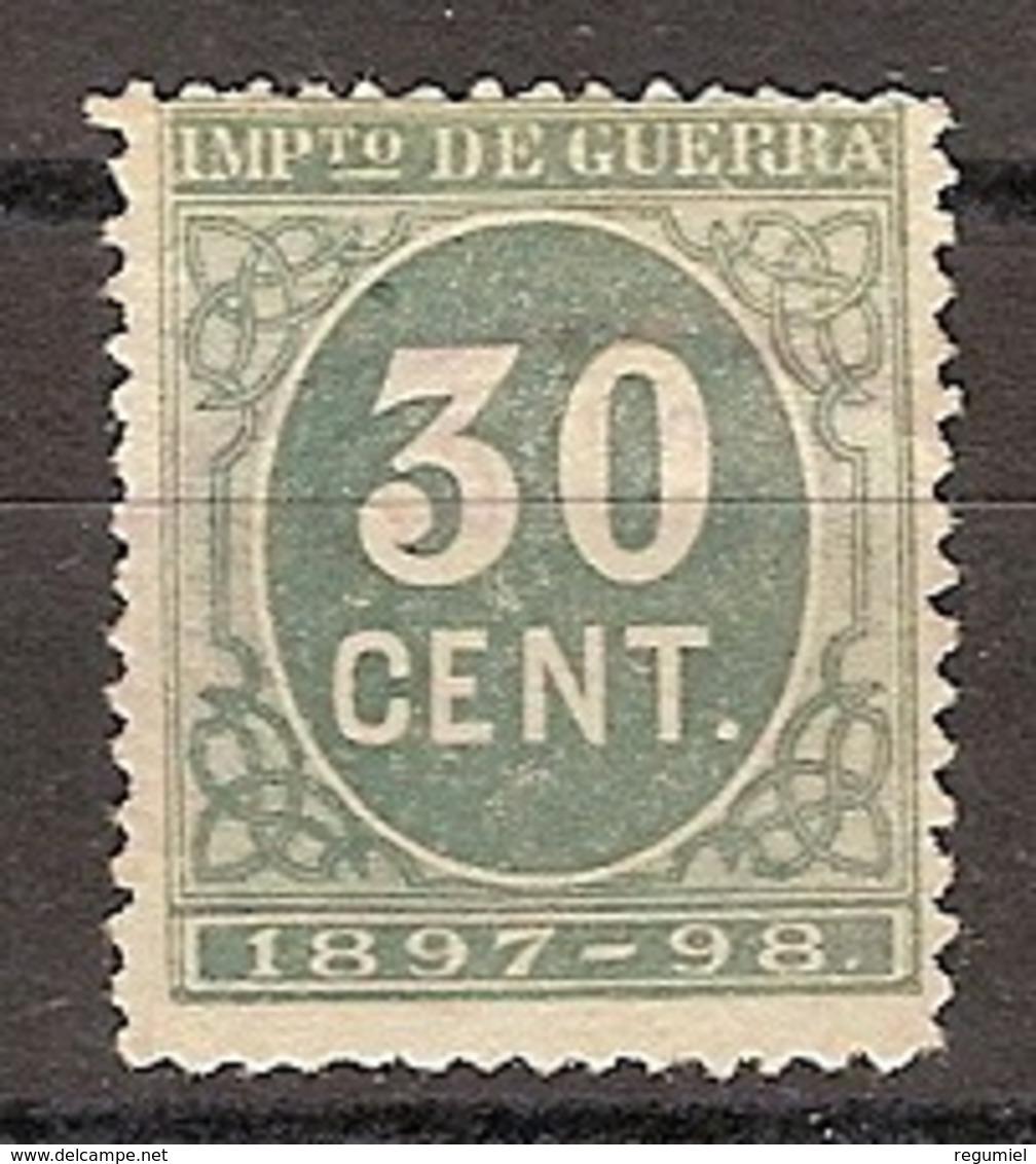 España Impuesto De Guerra 52 (*) Cifra. 1897 - Impuestos De Guerra