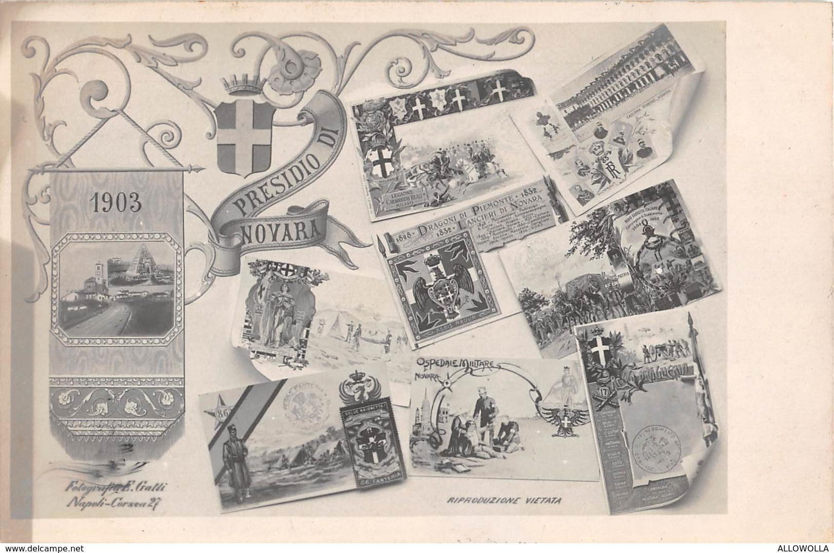 "1581 "" PRESIDIO NOVARA - 1903"" CART. POST.  NON SPED. - Regiments"