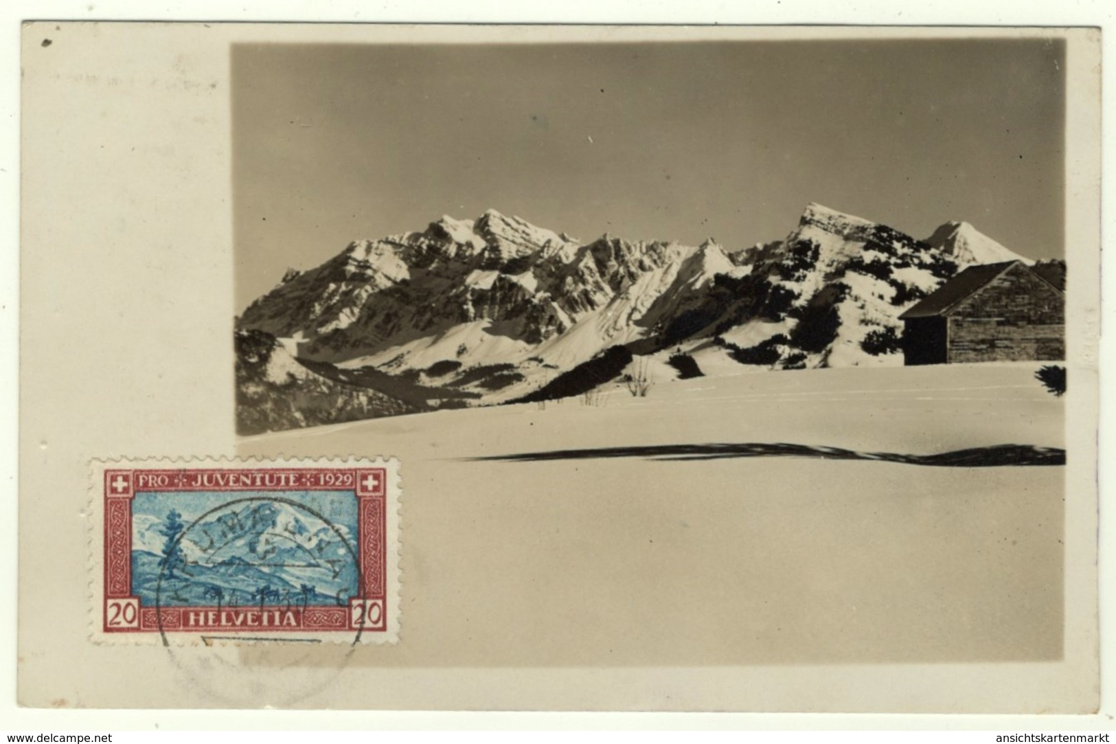 Berglandschaft, Hütte, Stempel Krummenau, Karte Von Schriftsteller Krummenau Toggenburg, Nesslau, Foto Postkarte 1930 - SG St. Gallen