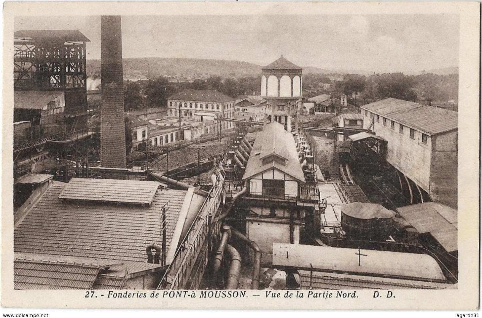 Fonderies De Pont A Mousson Vue De La Partie Nord - Pont A Mousson