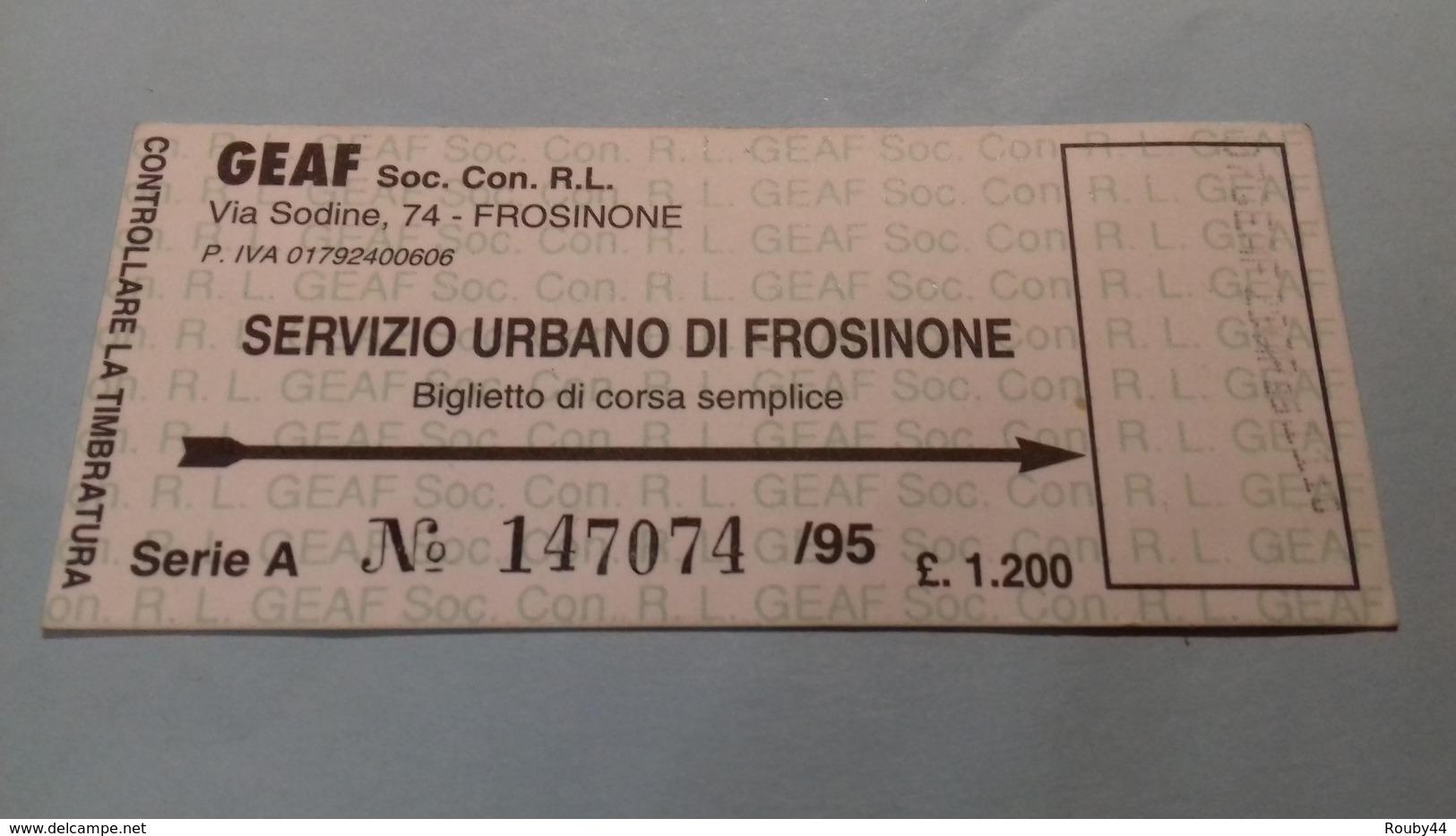 Servizio Urbano Di Frosinone - Europe