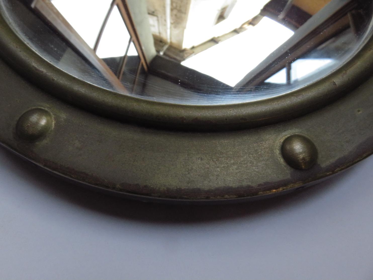Miroir Rond Ancien œil De Sorcière 26 Cm Style Marin - Forme De Hublot - Maritime Dekoration