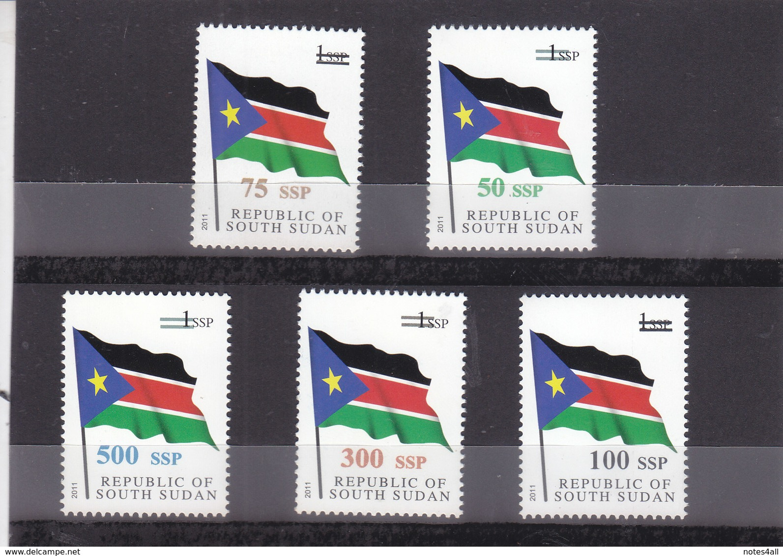 Stamps SOUTH SUDAN 2017 NATIONAL FLAG OVERPRINT SURCHARGE MNH */* - South Sudan