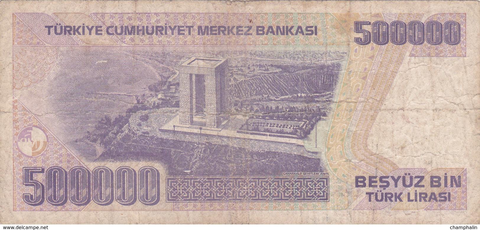 Turquie - Billet De 500000 Lira - Turchia