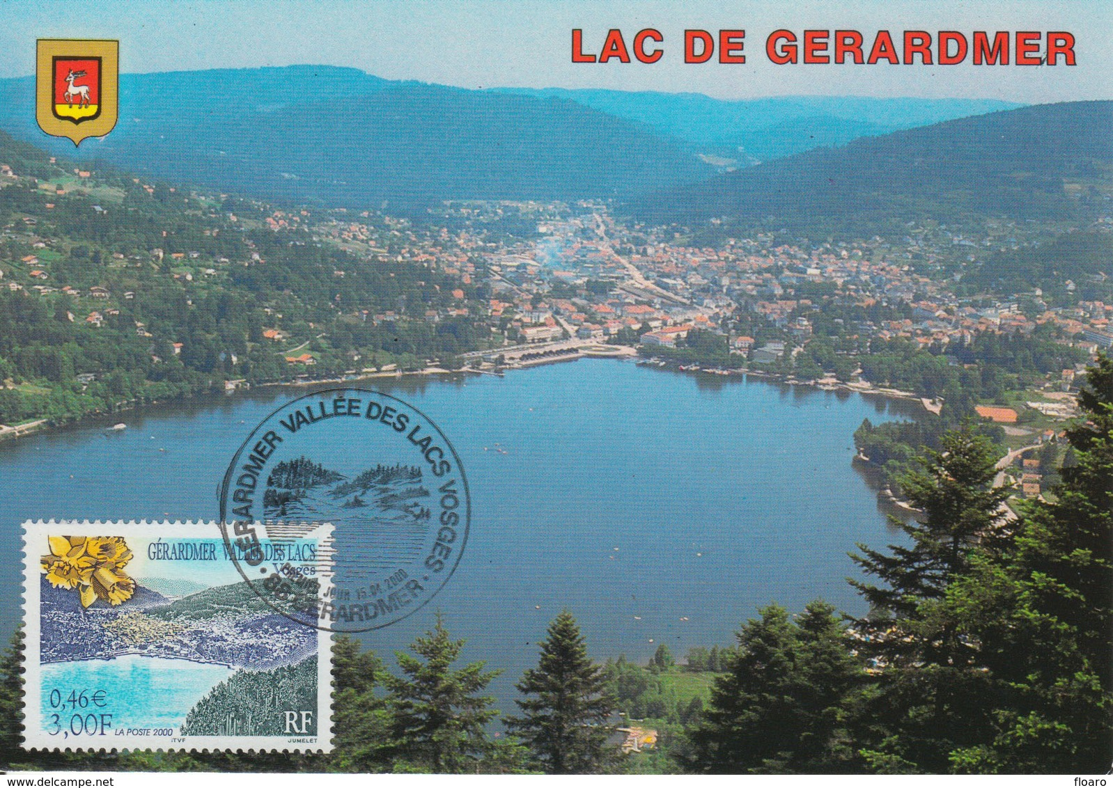 Carte-Maximum FRANCE N°Yvert 3311  / Lac De Gérardmer - 2000-09