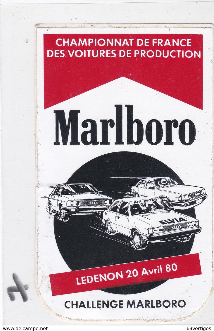 MARLBORO, Autocollant Championnat De France Des Voitures De Production, LEDENON 20 Avril 80 - Automobile - F1