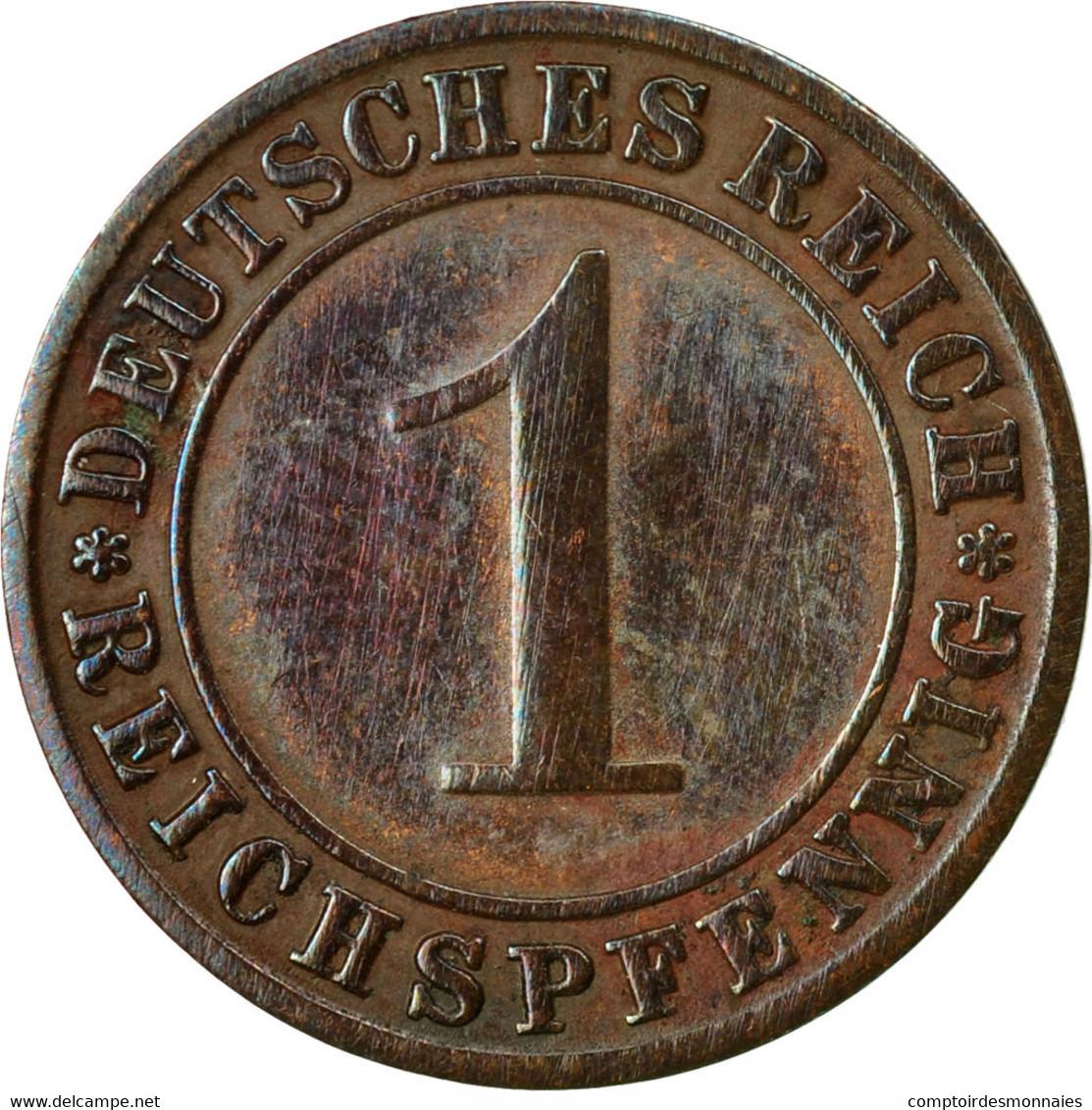 Monnaie, Allemagne, République De Weimar, Reichspfennig, 1929, Berlin, TTB+ - 1 Rentenpfennig & 1 Reichspfennig
