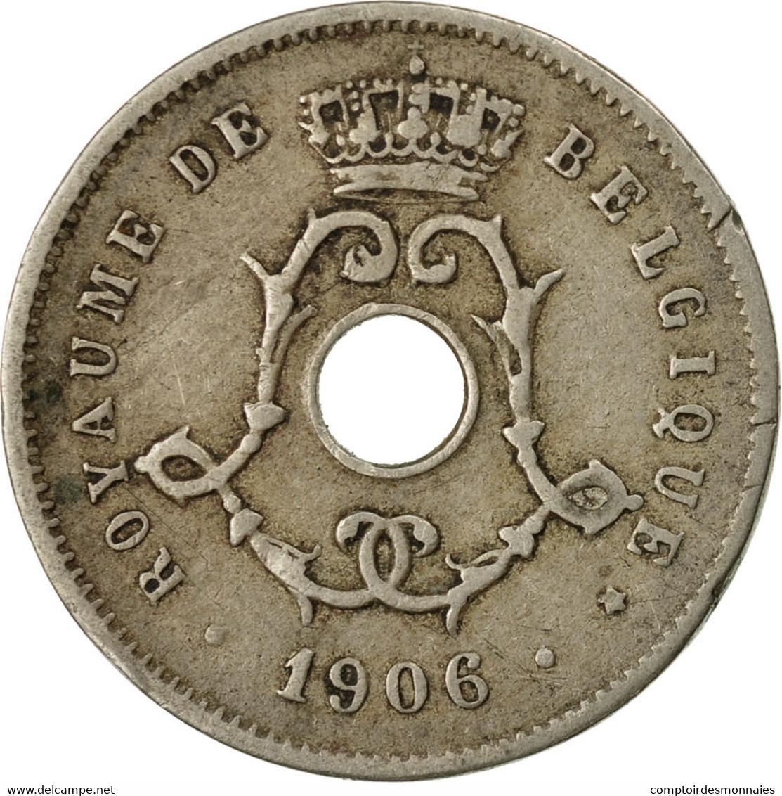 Monnaie, Belgique, 5 Centimes, 1906, TB+, Copper-nickel, KM:54 - 1865-1909: Leopold II