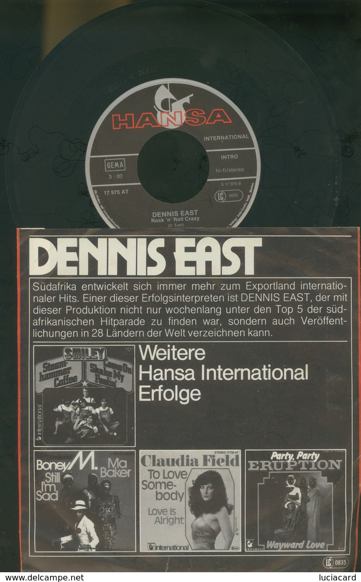 DENNIS EAST -A MILLION DRUMS -ROCK' N ROLL CRAZY -DISCO VINILE - Rock