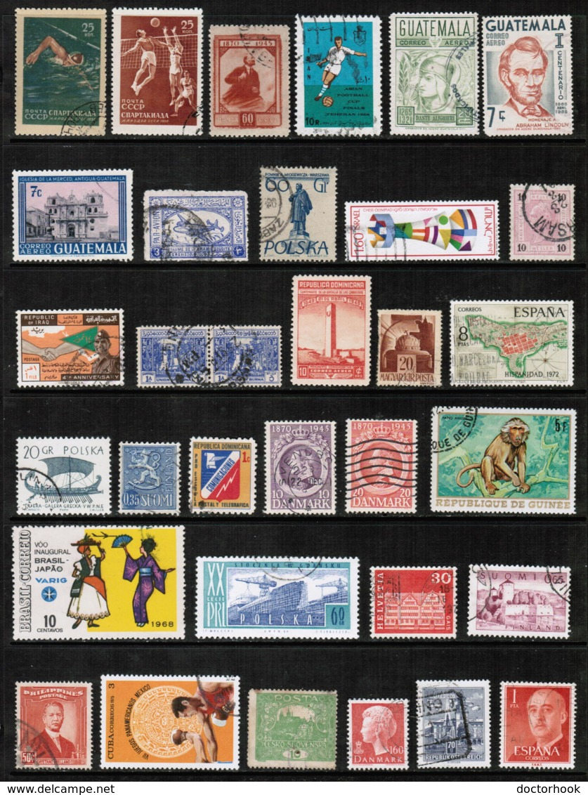 WORLDWIDE---Collection Of USED DL-641 - Stamps