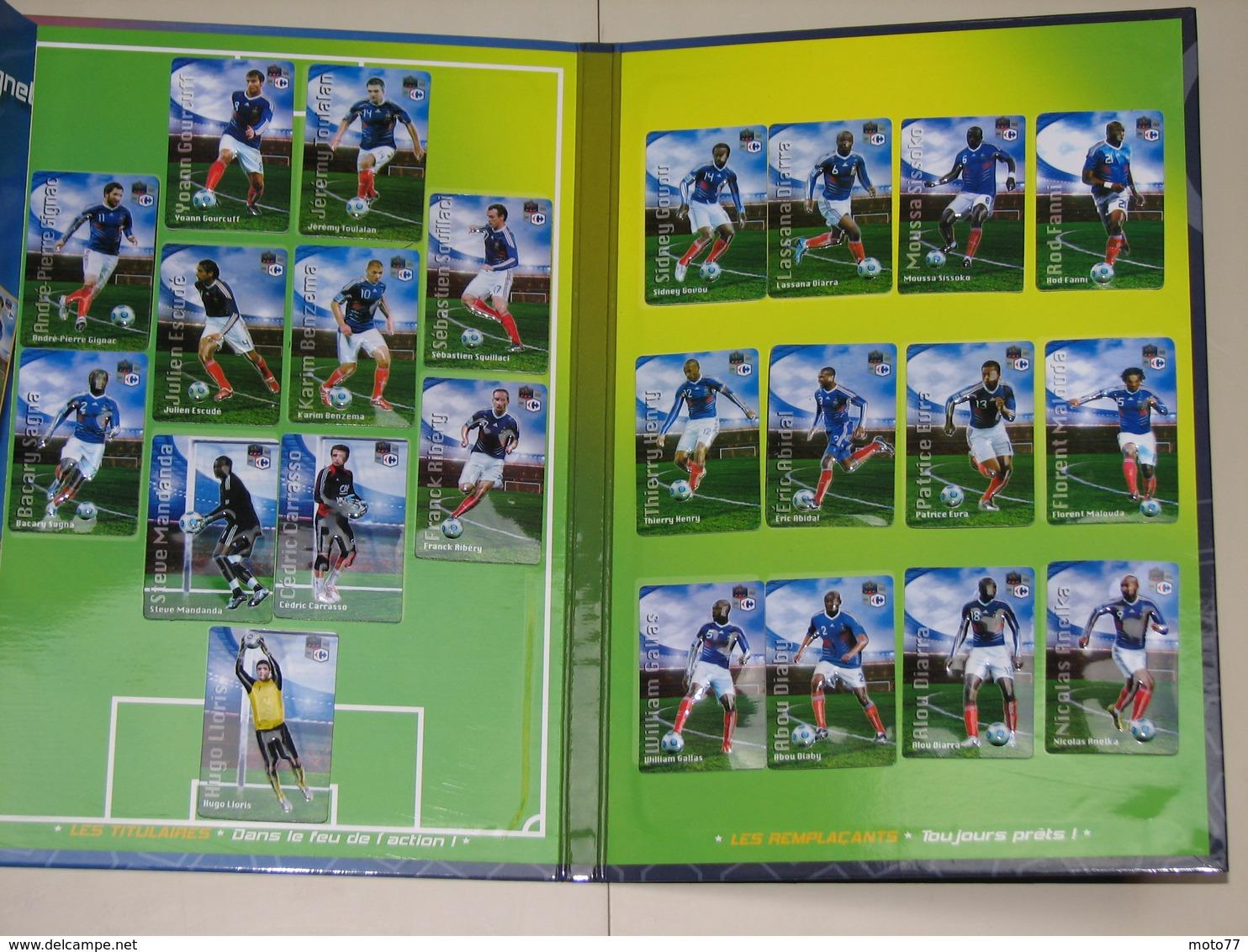 Album Collecteur Images Vignettes Cartes - CARREFOUR - Foot France - 2010 - Complet - Sports