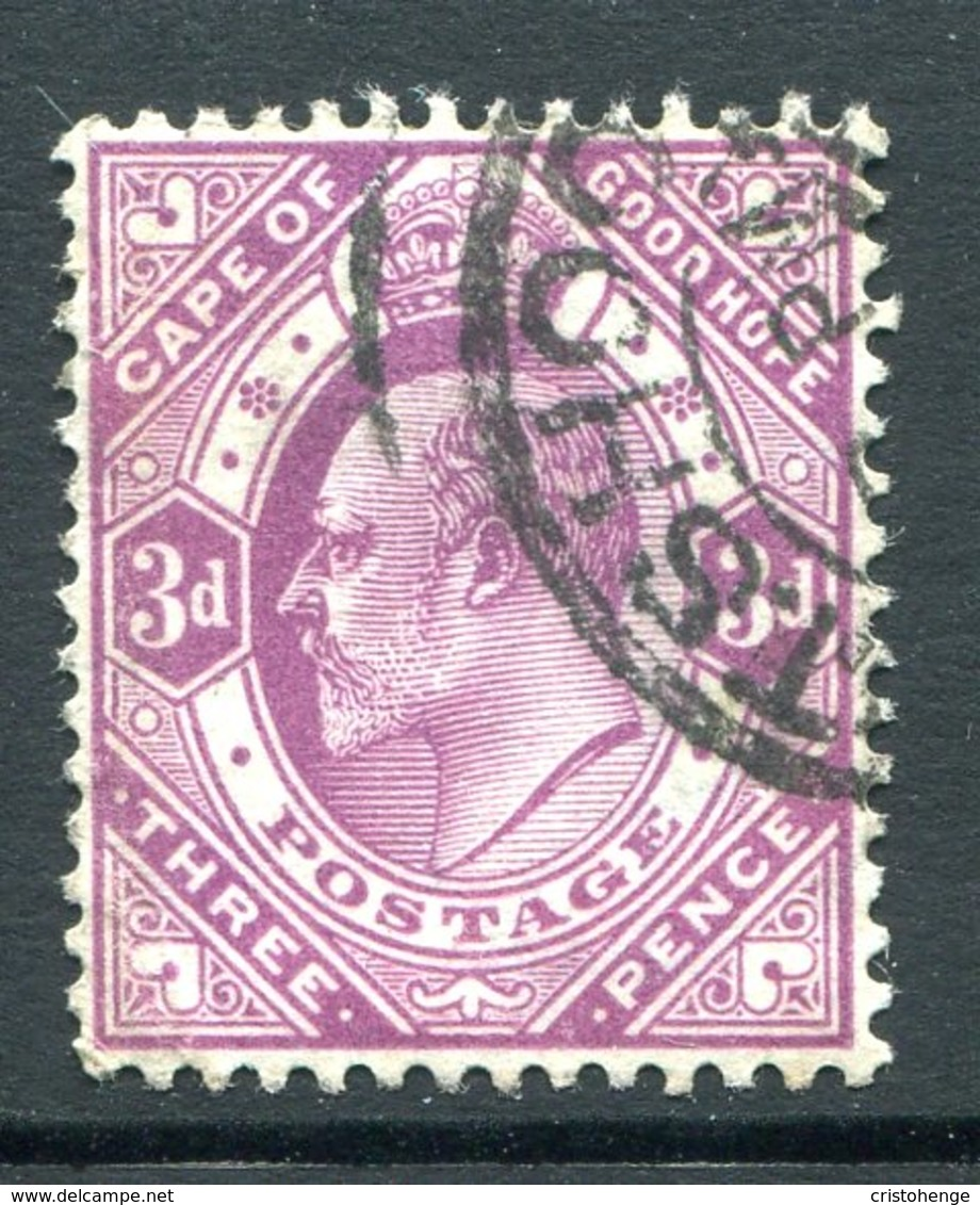 Cape Of Good Hope - South Africa - 1902-04 KEVII - 3d Magenta Used (SG 74) - South Africa (...-1961)