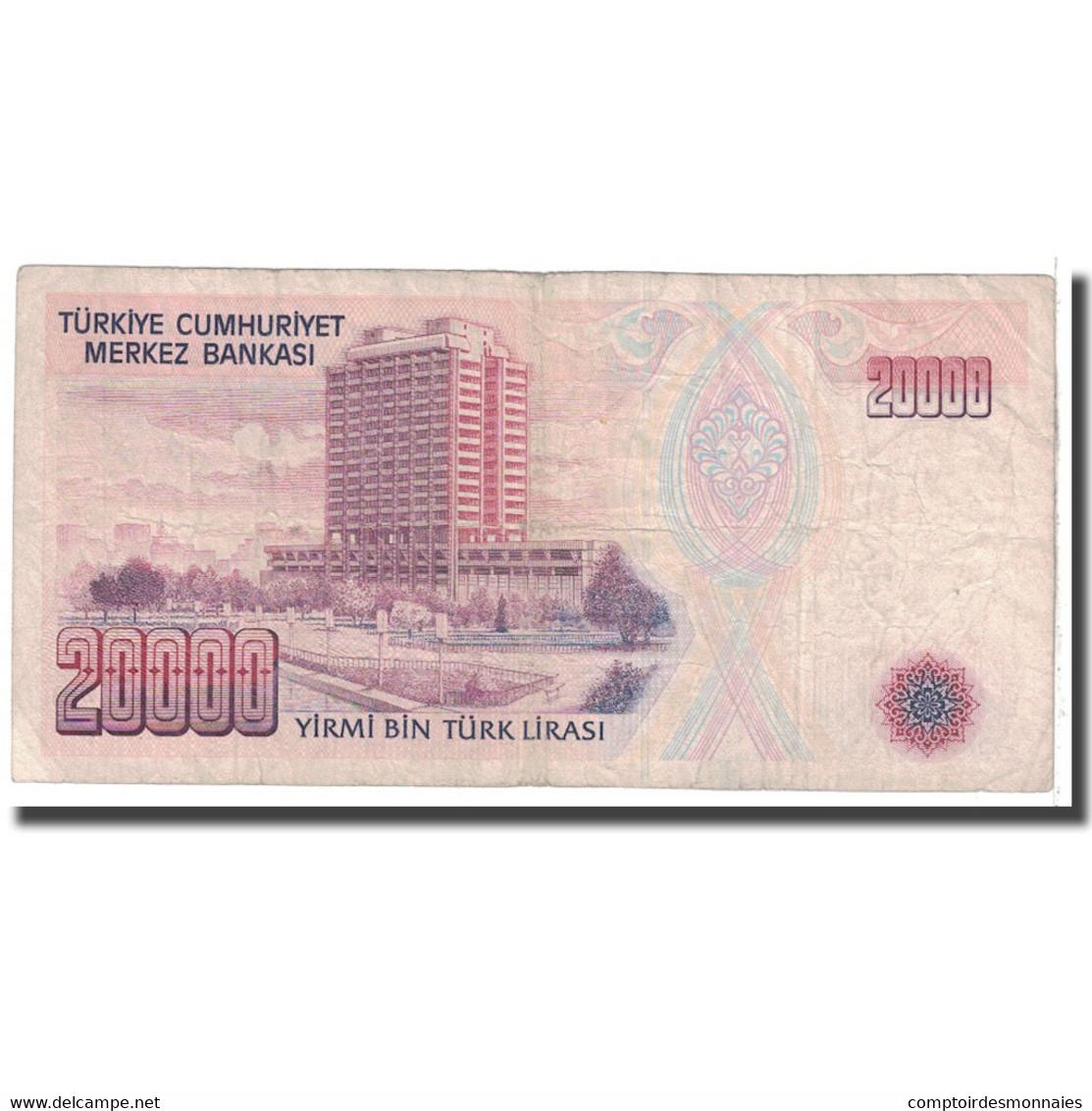 Billet, Turquie, 20,000 Lira, 1988, KM:201, B - Turquie
