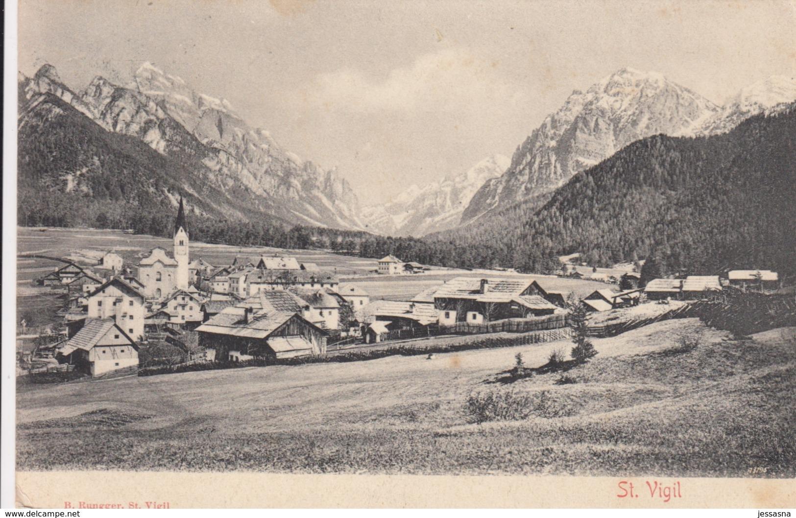 AK - ST. VIGIL (Gem. Enneberg In Südtirol) - Gesamtansicht 1905 - Italia