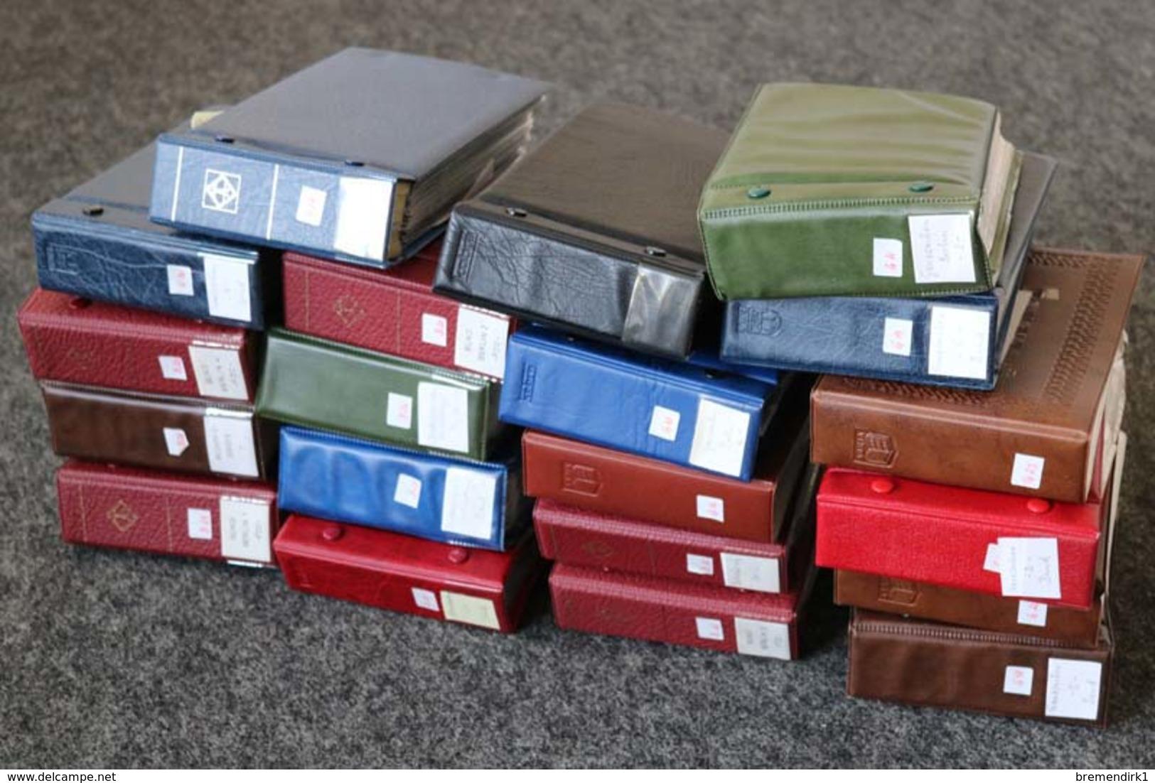 BUND/BERLIN Briefe Posten  FDC, Karten, GA`s In 20 Briefe-Alben, DIE HÄLFTE DARGESTELLT !!! Ca. 1700 Stück ....186 (F) - Briefmarken