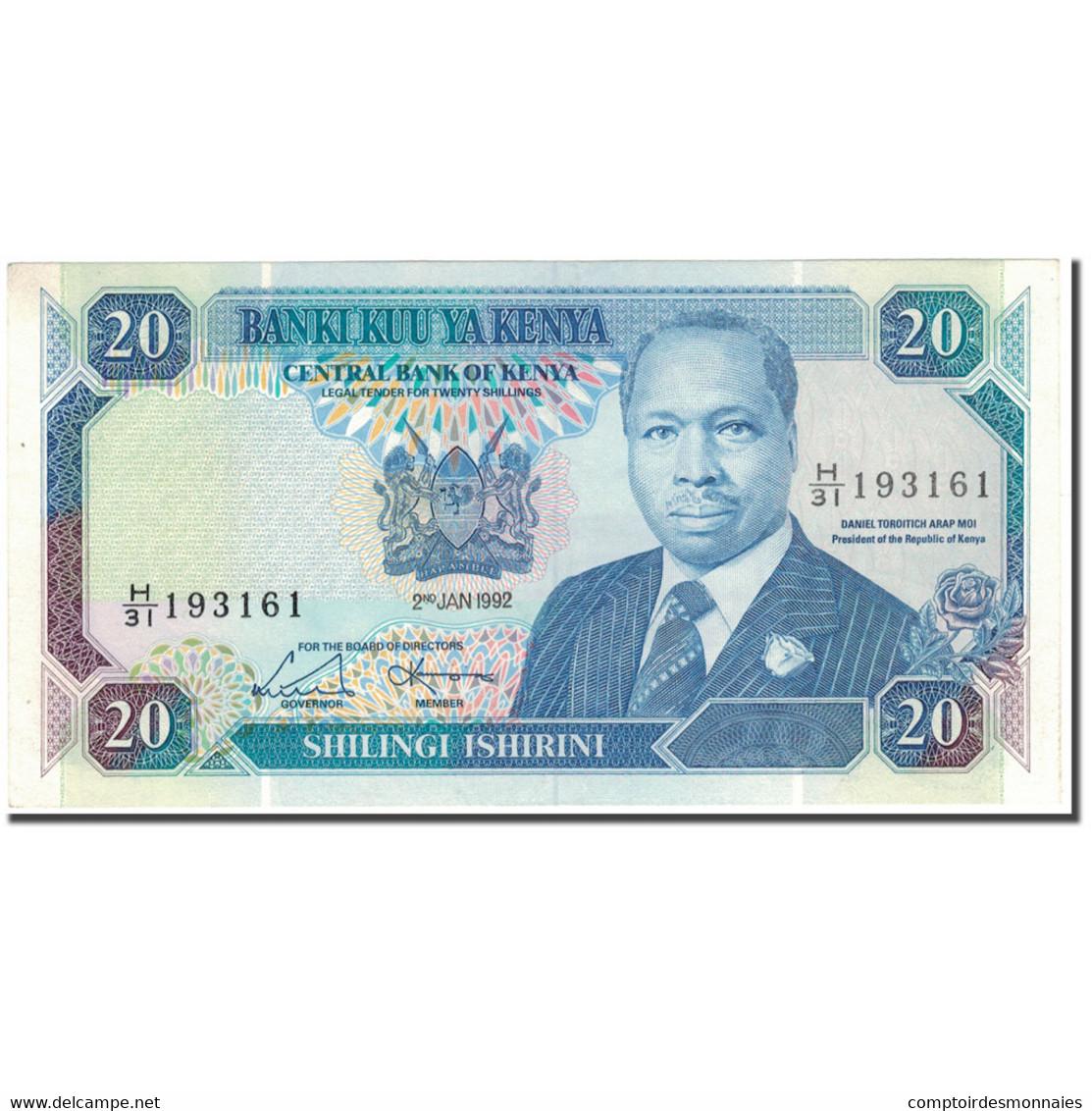 Billet, Kenya, 20 Shillings, 1992-01-02, KM:25e, NEUF - Kenya