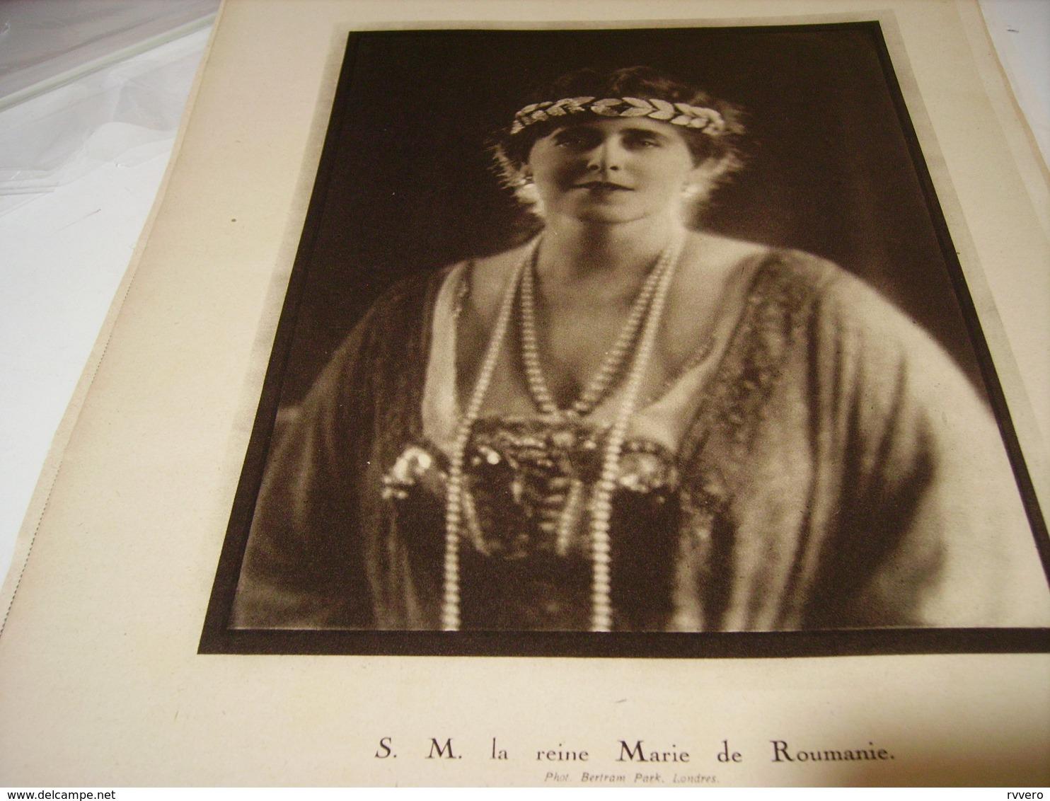 PHOTO LA REINE MARIE  DE ROUMANIE 1919 - Affiches