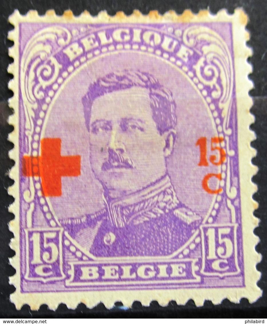 BELGIQUE              N° 154                   NEUF* - 1918 Red Cross