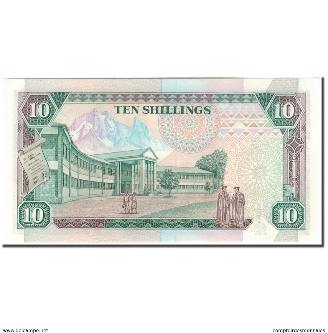 Billet, Kenya, 10 Shillings, 1990-07-01, KM:24b, NEUF - Kenya
