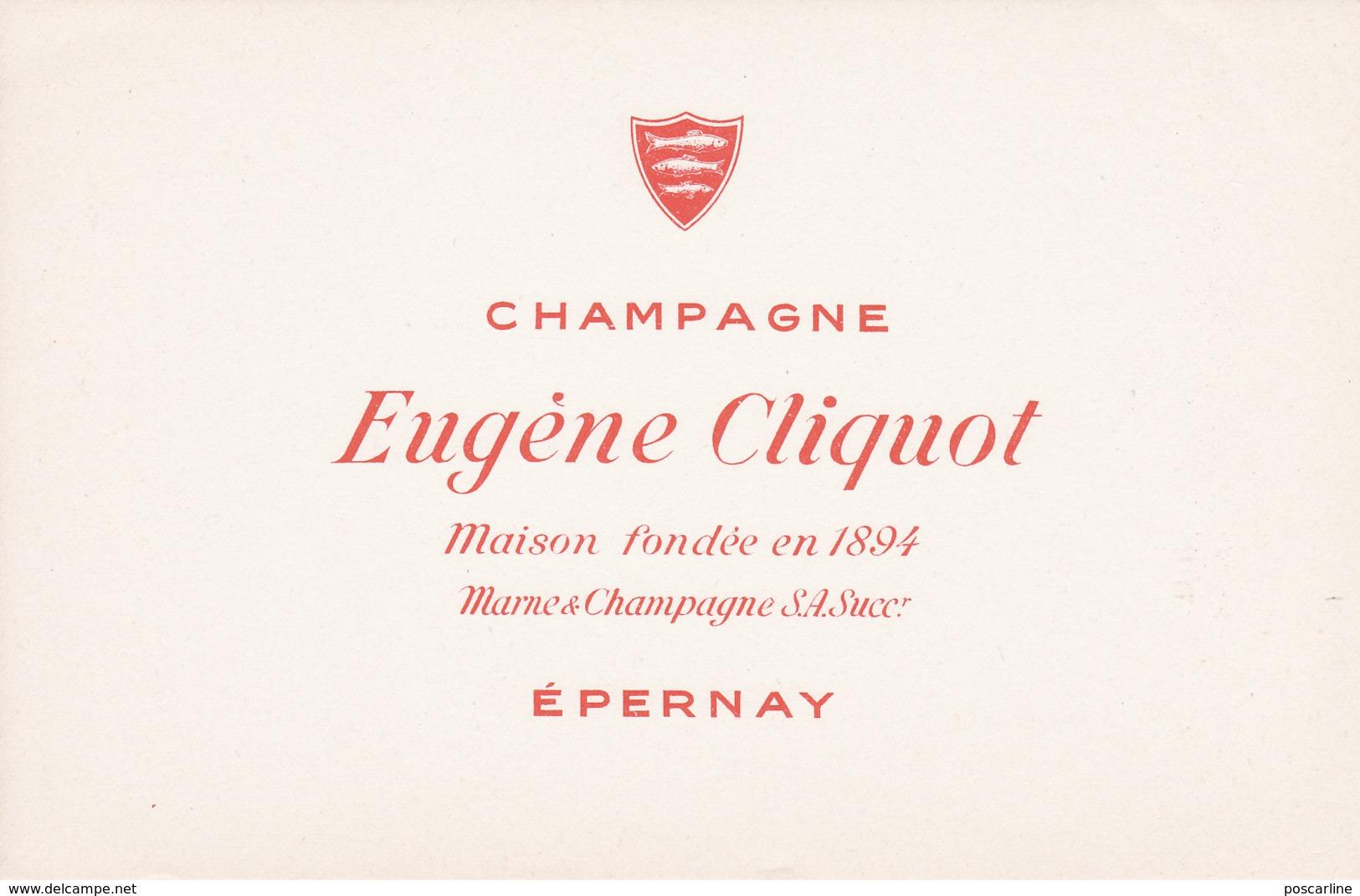 Buvard Champagne Eugène Cliquot à Epernay - C