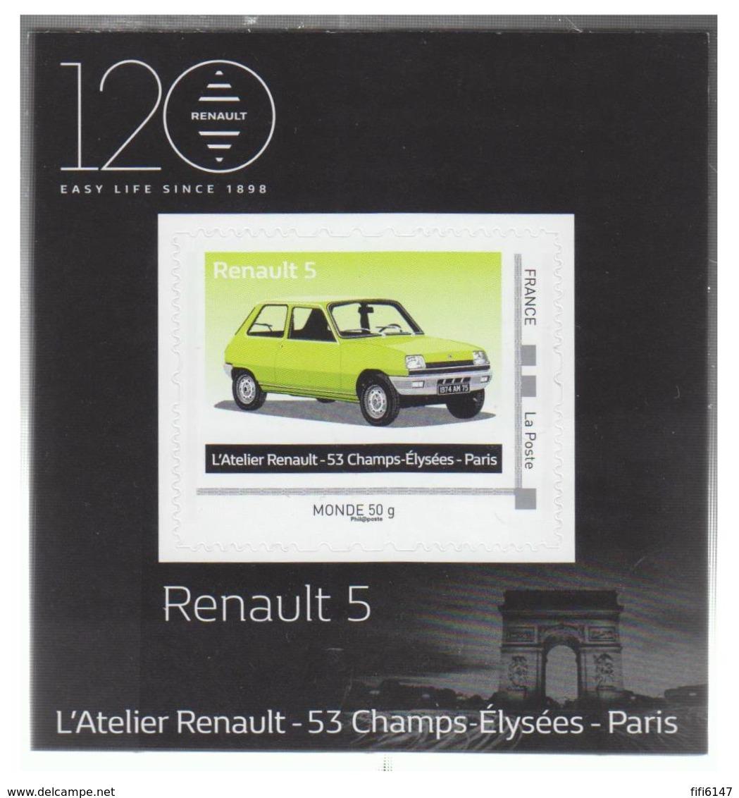 FRANCE --NOUVEAUTE 2018 -- MINI FEUILLET -- VEHICULE RENAULT -- R5 - Frankrijk