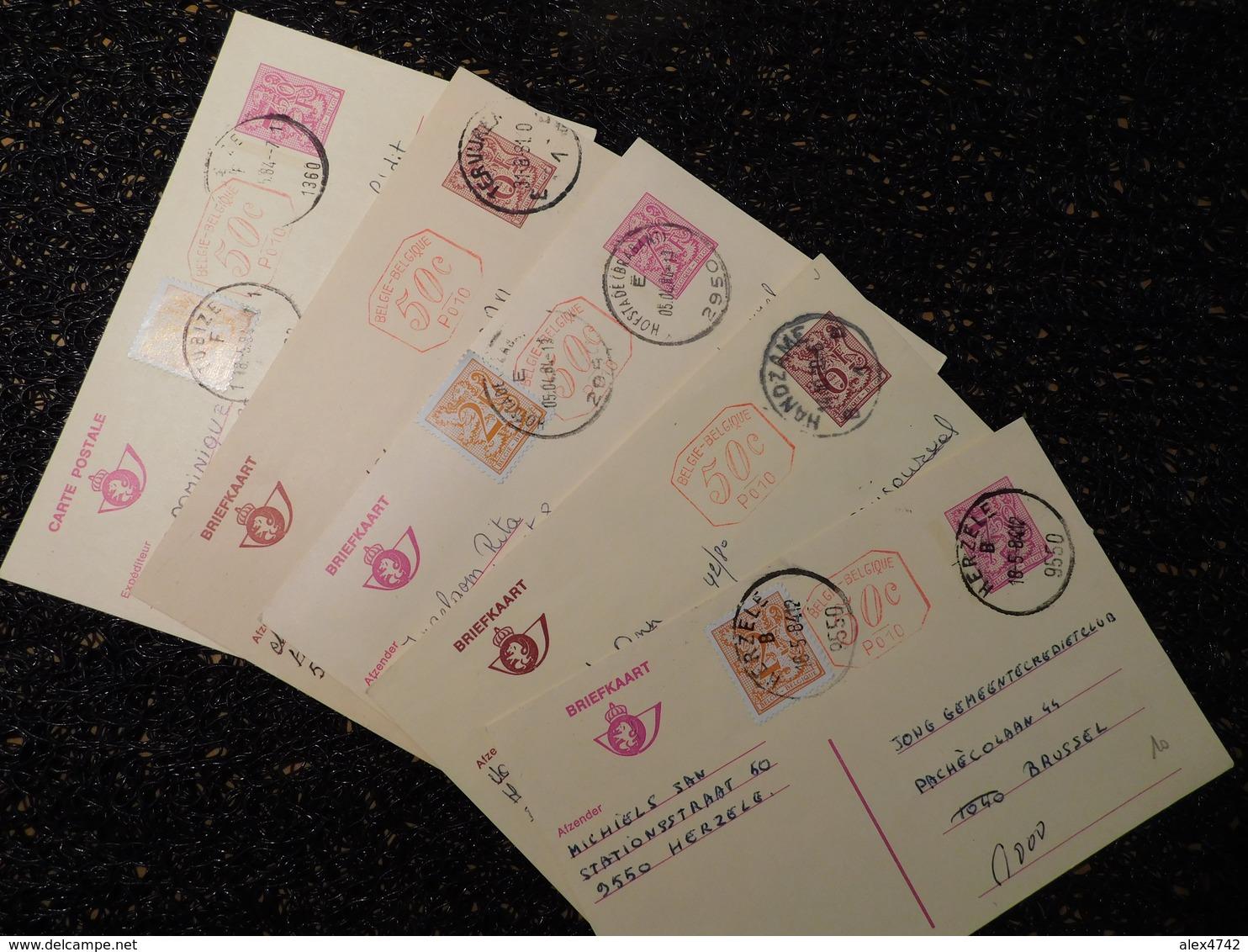 5 Entiers Postaux Belges, P010  (Y5) - Entiers Postaux